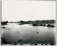 Bridge washed out by flood (1903 Flood)