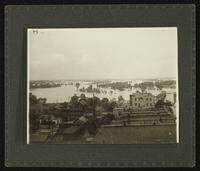 View of Lawrence and river (1903 Flood)