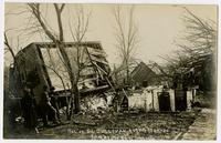 G. Sullivan residence on its side (1911 Tornado)
