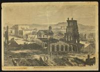 """Harper's Weekly Print, """"The Ruins of Lawrence, Kansas -- Sketched by a Correspondent"""" (Quantrill's Raid)"""