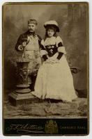 Emma Blackington and friend in costume