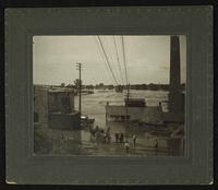 River and back of Bowersock Mill (1903 Flood)