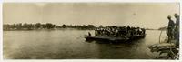 Ferry crossing flooded river (1903 Flood)