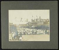 School children marching (Semi-Centennial Parade)