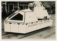 "KU ""Engineers Move the World"" float (75th Anniversary Historic Parade)"