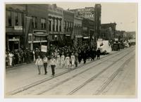 KU - Ku-Kus, Jay Jones, faculty, graduate school (75th Anniversary Historic Parade)