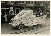 Visual Education, Lawrence city schools float (75th Anniversary Historic Parade)