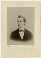 Portrait of a young man with no facial hair and a bowtie