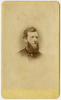 Portrait, small image of man with long bi-colored beard