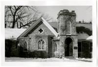Trinity Episcopal Chapel with Bicycle on Lawn