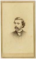 Small portrait of a man with dark curled hair and a mustache