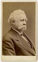 Portrait of portly old man with mustache