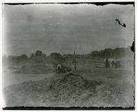 Building the Lawrence Bridge, Halfway Looking North
