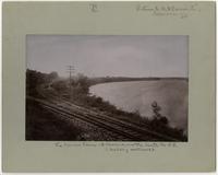 Kansas River and Santa Fe Tracks Looking Northwest