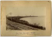 Kansas River Looking Northwest, Railroad Tracks in Foreground