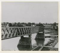 Rebuilding the Toll Bridge After the Flood of 1876