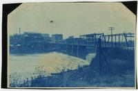 Kansas River and Massachusetts St. Bridge, Looking South at Lawrence