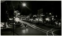 7th & Massachusetts Street at Night with Christmas Decorations