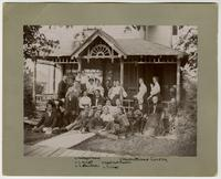 Reverend and Mrs. Cordley and Group on Porch