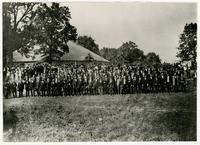 Group of Men in Front of Bismarck Grove Tabernacle