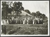 Group of Women in Front of Bismarck Grove Tabernacle