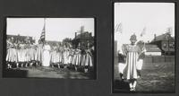 Women Wearing and Holding Flags