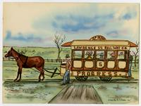 Lawrence St. Railway Company, Watercolor
