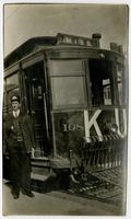 John Lawrence Griffith With KU Trolley