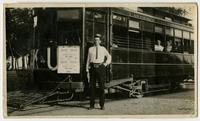 John Lawrence Griffith With KU Trolley 108