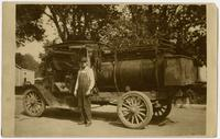 Unidentified Man With Gas Truck