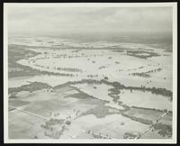 Aerial views of flood plain (1951 Flood)