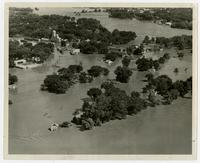 Aerial view of North Lawrence (1951 Flood)