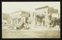 600 block of Massachusetts Street looking south (1911 Tornado)