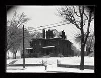 N.H. Burt residence in snow