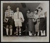 LHS fashions (L to R) Morris Springer; Raymond Schwegler; Barbara Sample; Judy Anderson; Dolores Skeet.
