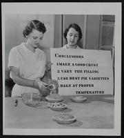 4H Clubs - Baking demonstration - Gloria Ousdahl (left) and Mary Miller.
