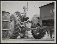 4H Fair - Robert Shaner in the tractor driving contest.