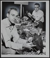 """Christmas """"Toys for Tots"""" KU Collections - Roger Thom (left), St. Joe, MO and Fred Helling, Merriam."""