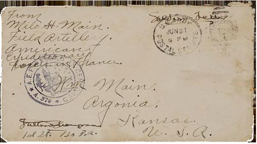Letters of Milo H. Main