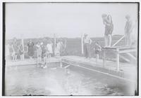 Group of Women and Girls at Swimming Pool