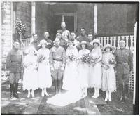 Col. Cameron Wedding Group in Front of House (wedding of Col. Cameron's Daughter)