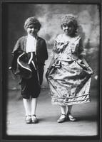 Portrait of Two Girls, Mary Clair Dixon and Friend, in Costume