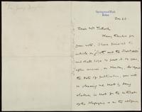 Sir George Douglas to Mr. Tulloch