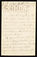 Letter to Mrs. Gilchrist [Anne Gilchrist, n_e Burrows?]