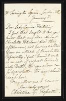 Letter to Lady Louisa Feilding [Fielding?]