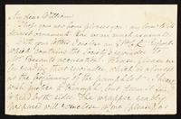 "Letter to ""My dear William"" [Michael Rossetti]"
