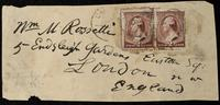 Envelope fragment addressed to Wm M Rossetti