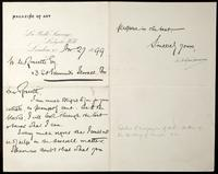 Letter from M. H. Spielmann to William Michael Rossetti
