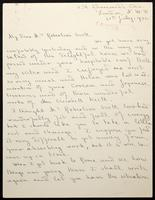 """Letter to """"My dear Mrs Robertson Scott"""""""
