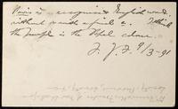 Postcard from F. J. F. [Frederick James Furnivall] to William Michael Rossetti